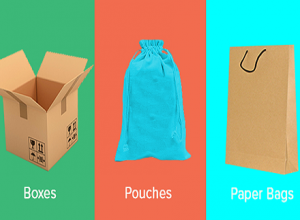Paper bags, pouches and boxes