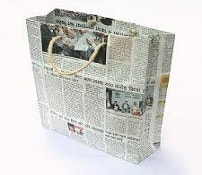 custom printed newspaper bag
